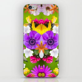 Flower mess - Pink Chaos iPhone Skin