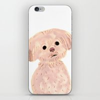 shih tzu iPhone & iPod Skins featuring Shih Tzu by ITSUKO SUZUKI