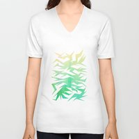 crane V-neck T-shirts featuring Crane by ArtsDianti