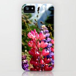 Lupinus, Swiss Alps iPhone Case