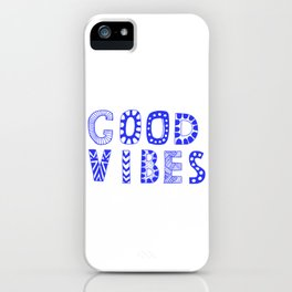 Good vibes pastel typography iPhone Case
