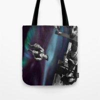 vertigo Tote Bags featuring Vertigo by icontrive