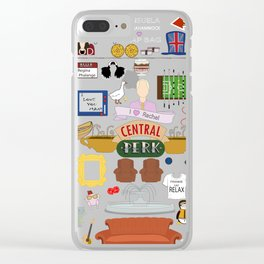 Friends TV Show Quotes Collage Clear iPhone Case