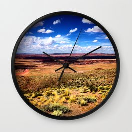 Painted Desert Scape Wall Clock
