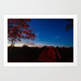 Roadtrip Camping Art Print