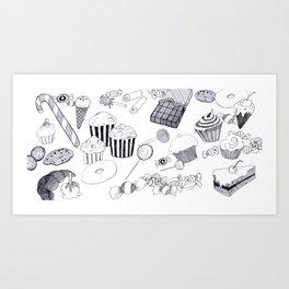 Süßigkeiten Art Print