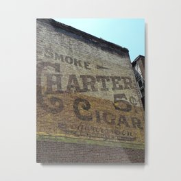 Retro Billboard Metal Print
