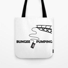 Bungee Pump Tote Bag
