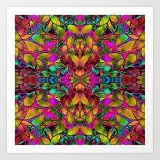 Fractal Floral Abstract G285 Art Print