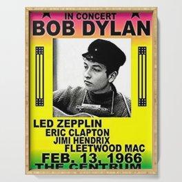 Vintage 1966 Centrum, Worcester, Massachusetts Bob Dylan Concert Billboard Gig Poster Serving Tray