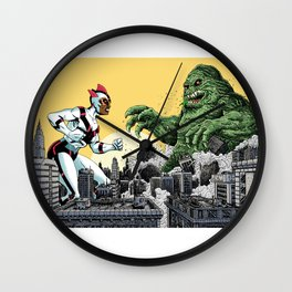 Kaiju Battle Wall Clock