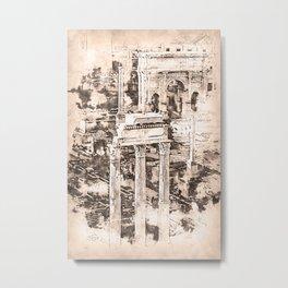 Rome Imperial Fora Metal Print