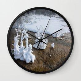 Winter in Yellowstone Wall Clock