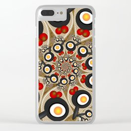 Brunch, Fractal Art Fantasy Clear iPhone Case