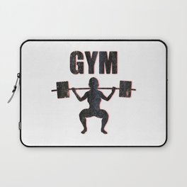 Gym Female Weightlifter Laptop Sleeve