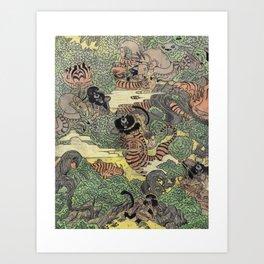 Mu Guai and the Tiger's Eye, Panel 5 Art Print