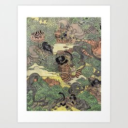 Mu Guai and the Tiger's Eye, Panel 5 Art Print