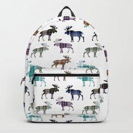 Plaid Moose Backpack