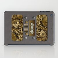 jeep iPad Cases featuring Steampunk Jeep with Gear machines iPhone 4 4s 5 5c 6, pillow case, mugs and tshirt by Greenlight8