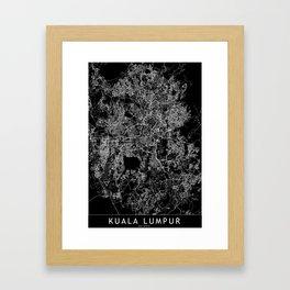 Kuala Lumpur Black Map Framed Art Print