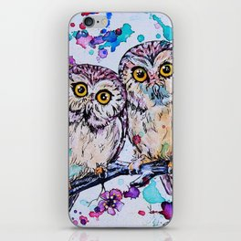 Little Owls version 2 iPhone Skin