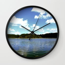 A Day on the Lake Wall Clock