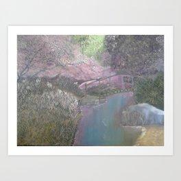 purple reflections Art Print