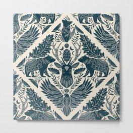 Spirit Animals // animal lovers // art nouveau  Metal Print