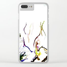 Abstract of Shapes and Color Clear iPhone Case