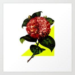 Vintage Bloom /Neon Wedge Art Print