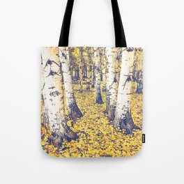 Golden Floor Tote Bag