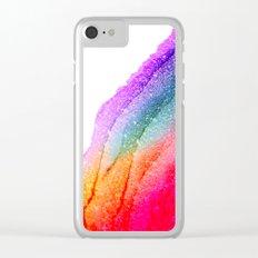 UNICORN GLITTER Clear iPhone Case