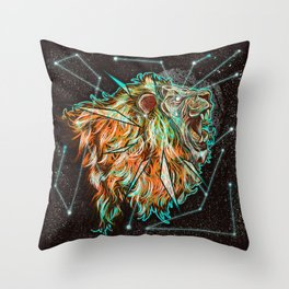 Space lion  Throw Pillow