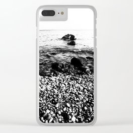 Stones at the sea Clear iPhone Case