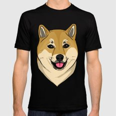 Shiba Inu SMALL Black Mens Fitted Tee