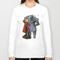 fullmetal alchemist Long Sleeve T-shirts featuring Alchemist of Steel by CromMorc