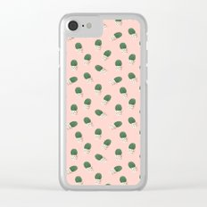 Cute Cactus Pink Pattern Clear iPhone Case