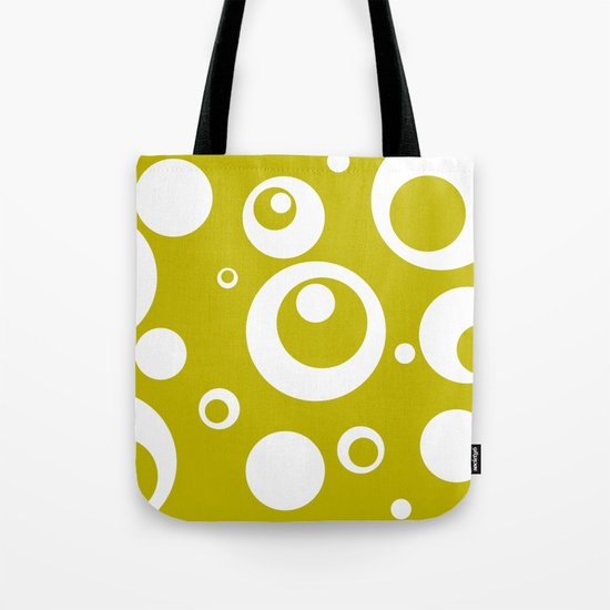 Circles Dots Bubbles :: Citron Tote Bag
