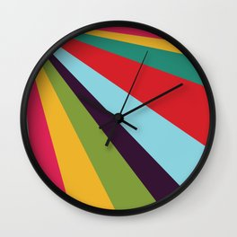 Bright Rays of Light - Circus Tent - Pride Beams - 57 Montgomery Ave Wall Clock