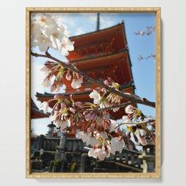 Kiyomizu-dera - Cherry Blossoms Serving Tray