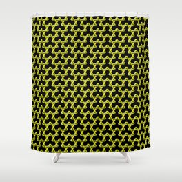 Impossible Yellow Triangles Shower Curtain