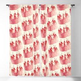 Cherry Cake Pattern Blackout Curtain