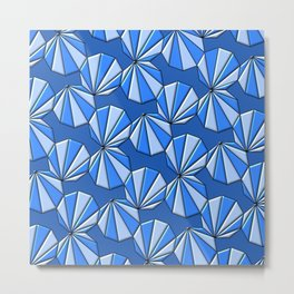 Enneagons - Blue Metal Print