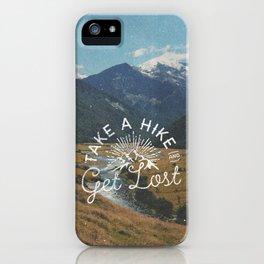 TAKE A HIKE iPhone Case