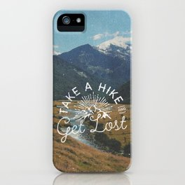 TAKE A HIKE iPhone Case