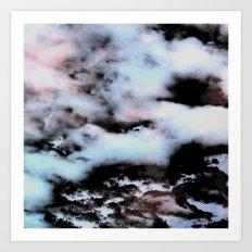 Ice and Smoke Art Print