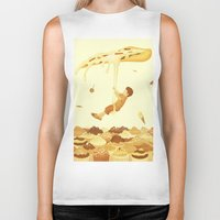 food Biker Tanks featuring Food by Alendro