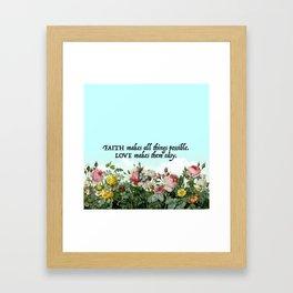 Faith & Love Framed Art Print