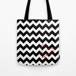 CHEVRON&HEART Tote Bag