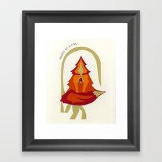Happy as a Fox! Framed Art Print
